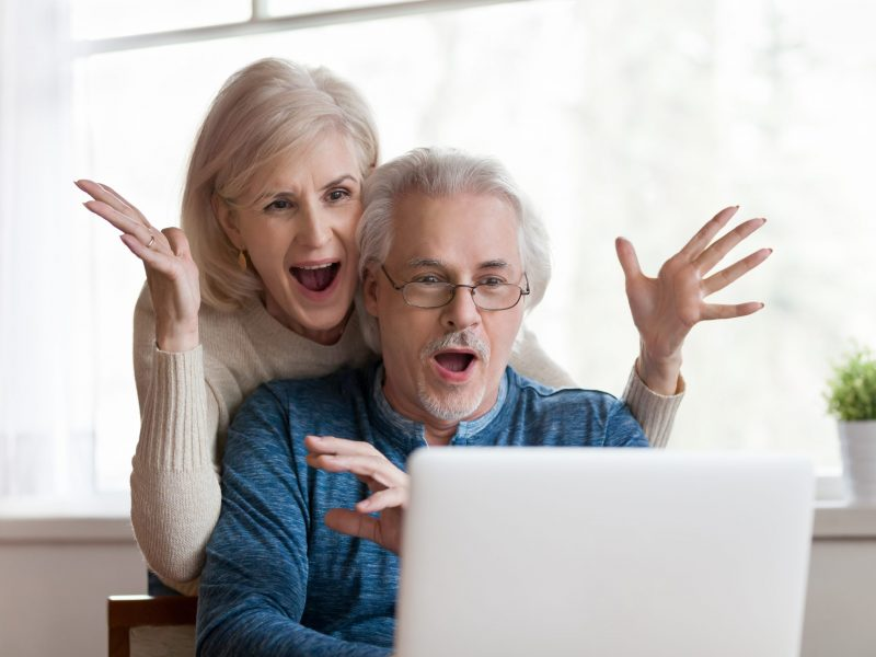 Excited,Senior,Mature,Couple,Surprised,By,Good,Unbelievable,News,,Unexpected